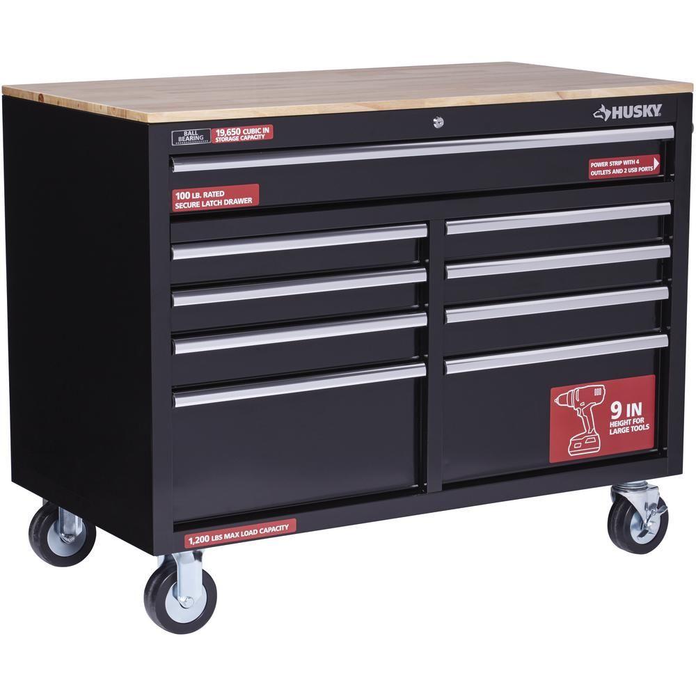 Husky Extra Deep 46 9 Drawer Mobile Workbench At Bens Bargains