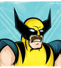 Wolverine sporting a mustache