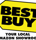 Best Buy logo: Your Local Amazon Showroom