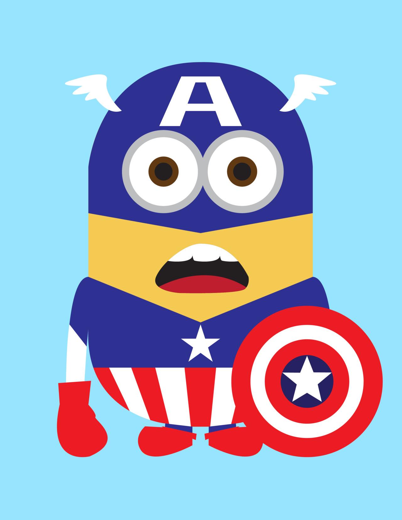 Minion Captain America Amigurumi : Despicable Me 2 Minions as Adorable Superheroes