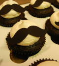 mustaches on cupcakes