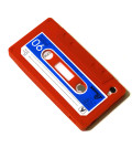 iPhone Silicone Cassette Tape case