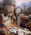 Star Wars and Thomas Kinkade Art: Rancor Massacre