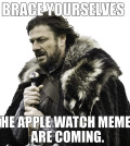 Brace Yourself. The Apple Watch Memes are coming. - Game of Thrones meme
