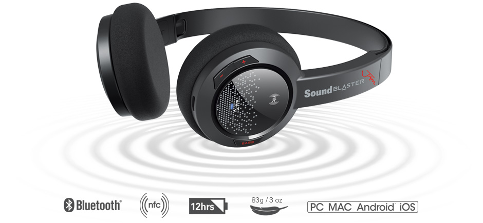 bluetooth creative sound blaster jam wireless headset review. Black Bedroom Furniture Sets. Home Design Ideas