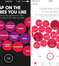 (l.) Beats Music vs. (r.) Apple Music