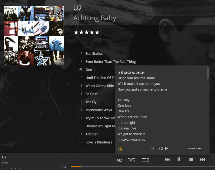 Plex Pass Subscribers now get synchronized lyrics