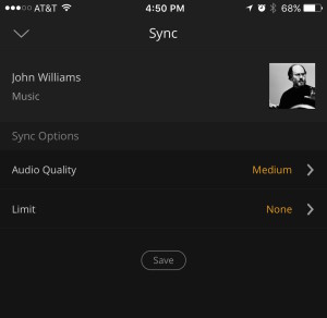 Sync media for offline viewing/listening