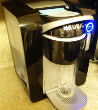 Keurig KOLD Drinkmaker Black on counter