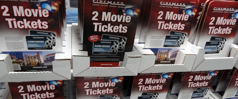 saving money with movie gift cards