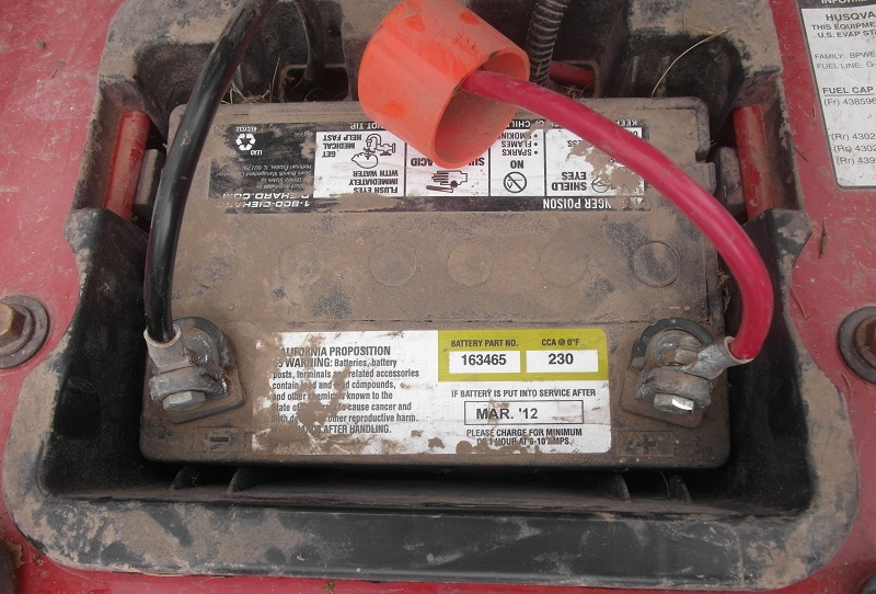Inspect old battery