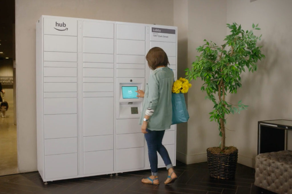 Amazon launches 'The Hub,' delivery lockers for apartments