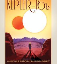NASA Travel Poster Kepler 16b