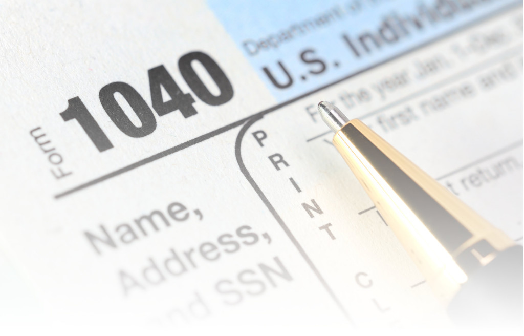 IRS form 1040 taxes
