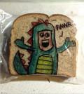 Sandwich Bag Art: A guy in a dragon costume