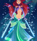 Star Wars Disney Princess Ariel as a Jedi Guardian