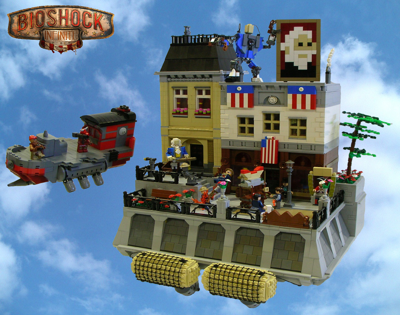 The World Of Bioshock Infinite Created With Legos