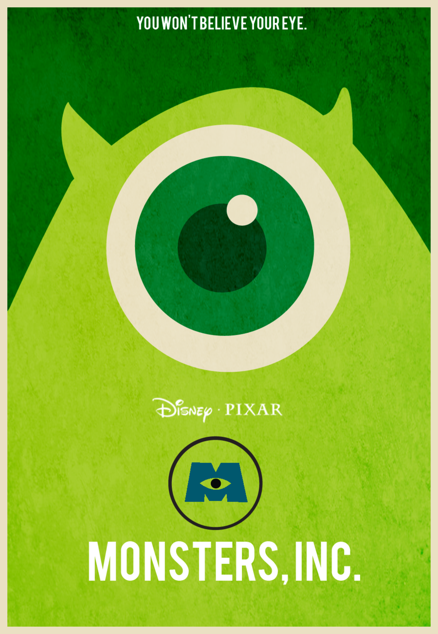 We Scare Because We Care 20 Monsters Inc Fan Posters