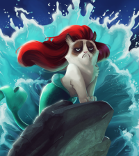 "The Little Mermaid Grumpy Cat ""Under the No"""