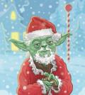 Yoda Christmas Card Front