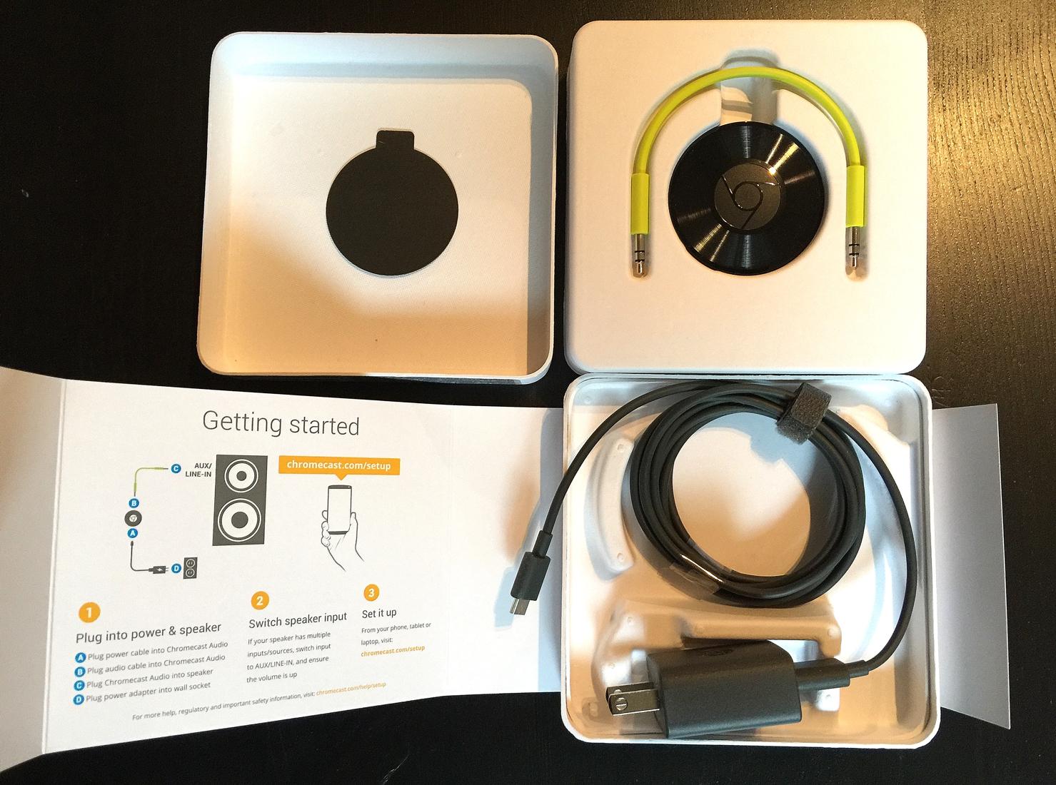 Chromecast-Audio-unboxing