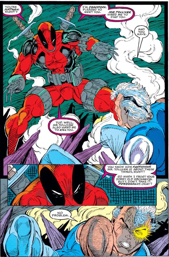 Deadpool First Appearance, New Mutants #98