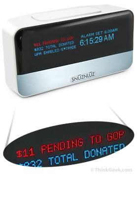 SnuzNLuz Wifi Donation Clock