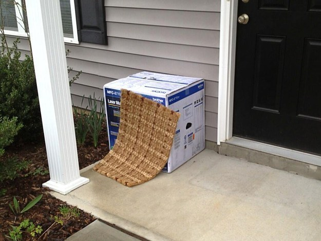 Image result for fail hiding package on porch