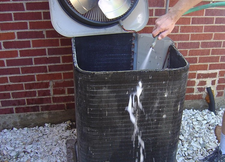 how to wash an AC unit
