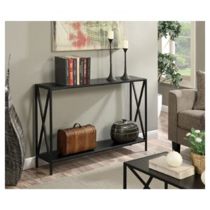 console table for behind the couch as an inexpensive living room upgrade